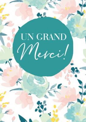 Carte double Classic Line merci « Un grand Merci ! »