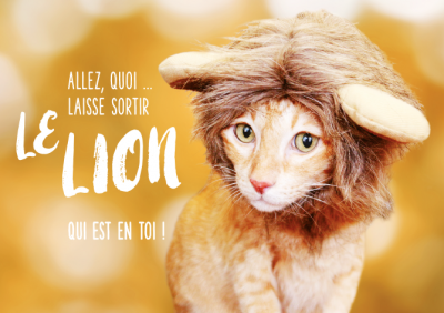 Carte double Classic Line motivation « Le lion... »