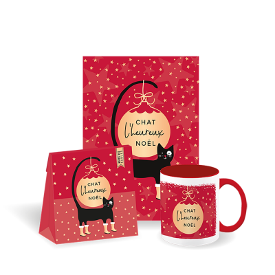Set-cadeau Noël tasse + roses des sables + carte médium (3 articles)