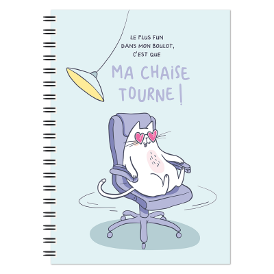 Bloc-notes A5 « Ma chaise Tourne... »
