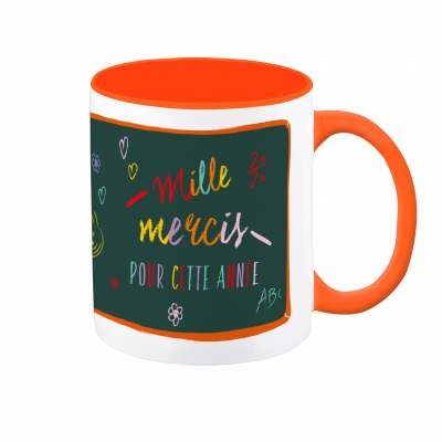 Mug VintageArt « Mille mercis pour cette année »