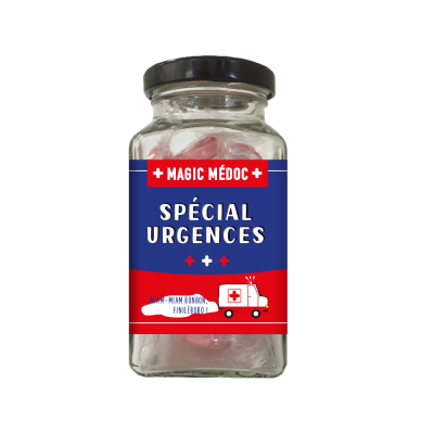 Bonbons en verrine 90g « Spécial urgences » Magic Médoc