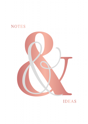 Bloc-notes grand format Manufacture International « Notes & Ideas »