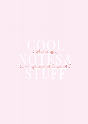 Bloc-notes grand format  Manufacture International « Cool ideas, Notes & important Stuff »