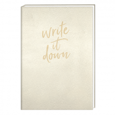 Bloc-notes doré Manufacture International « Write it down »