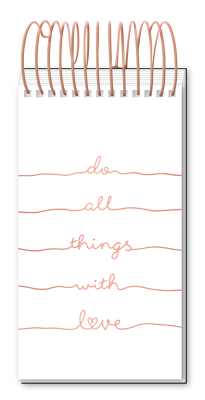 Bloc-notes à spirale géante Manufacture International « Do all things with love »