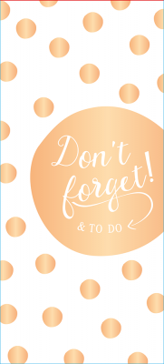 Bloc-notes To-Do Manufacture International « Don't forget... »