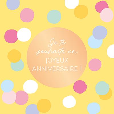 Carte double QuadrART anniversaire « Je te souhaite... » effet metallic or, FSC Mix, NC-COC-026121