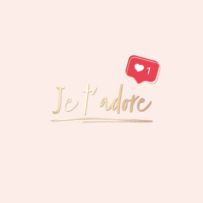 Carte double QuadrART amitié / amour « Je t'adore » effet metallic or, FSC Mix, NC-COC-026121