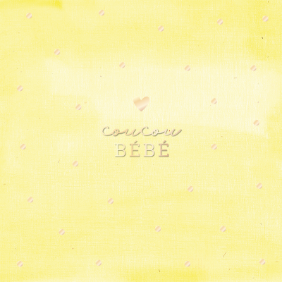 Carte double QuadrART naissance « Coucou Bébé » effet metallic or, FSC Mix, NC-COC-026121