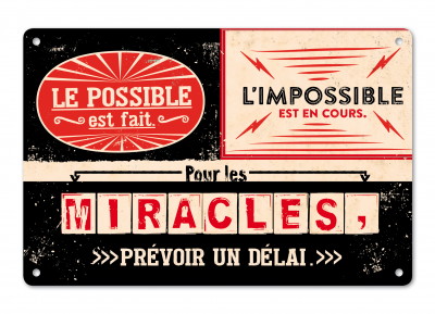 Plaque métal VintageArt « Le possible... »
