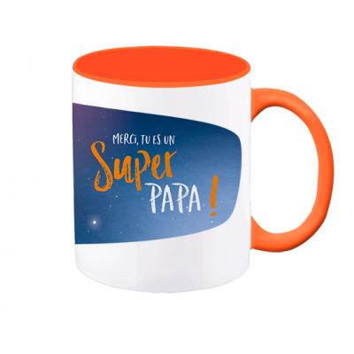 Mug VintageArt « Super PAPA ! »